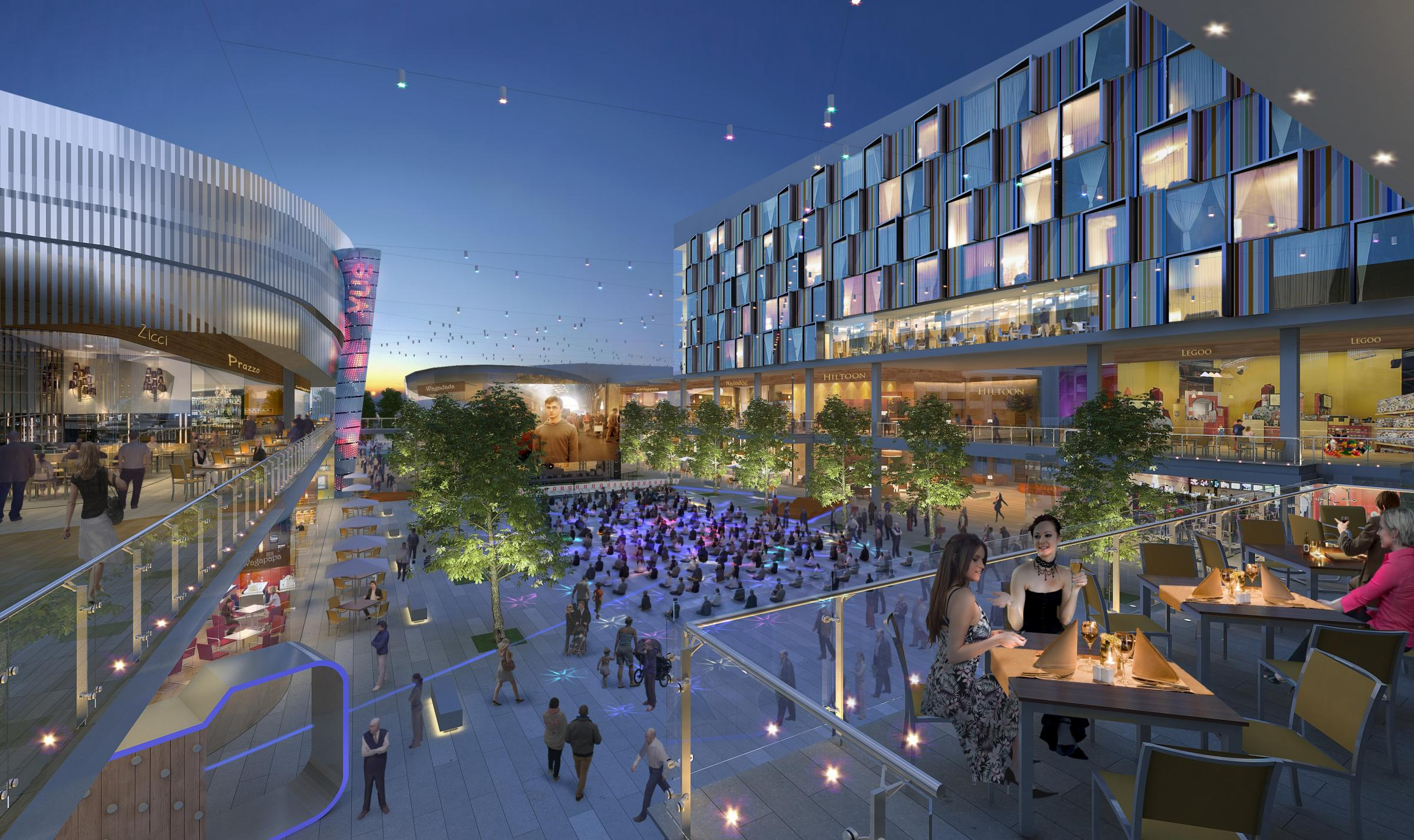 Artist's impression: exciting leisure proposal for Lakeside shopping centre