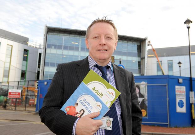 Thurrock Gazette: Mark Bentley, the logistics course leader, outside the new £45million South Essex College campus in Grays