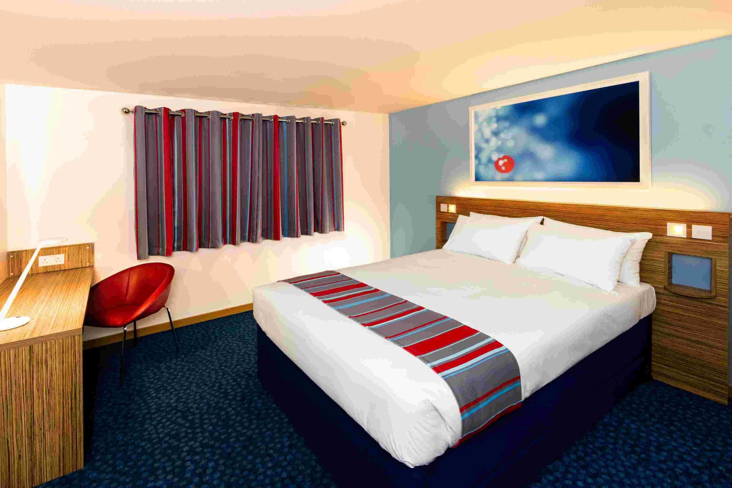 The new and improved Travelodge room, featuring the 'Dreamer'