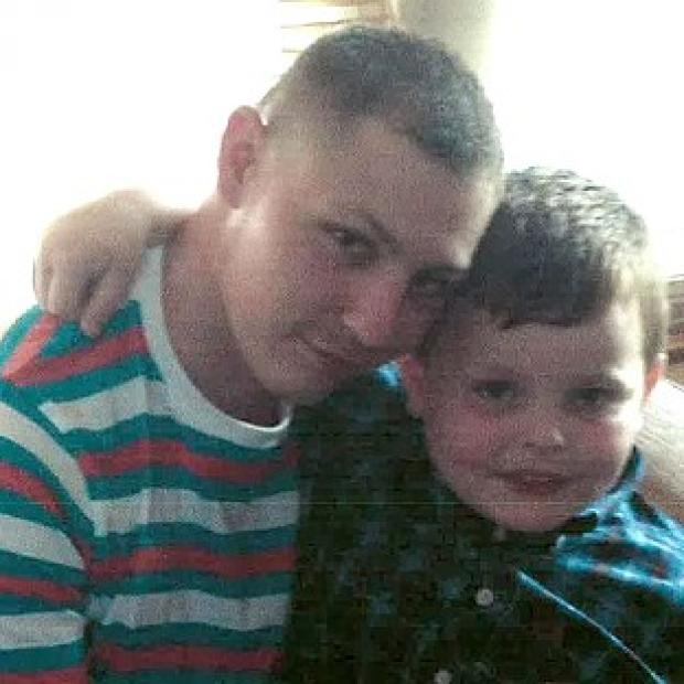 Thurrock Gazette: Dean Mayley, 24, hugging his seven-year-old nephew Callum