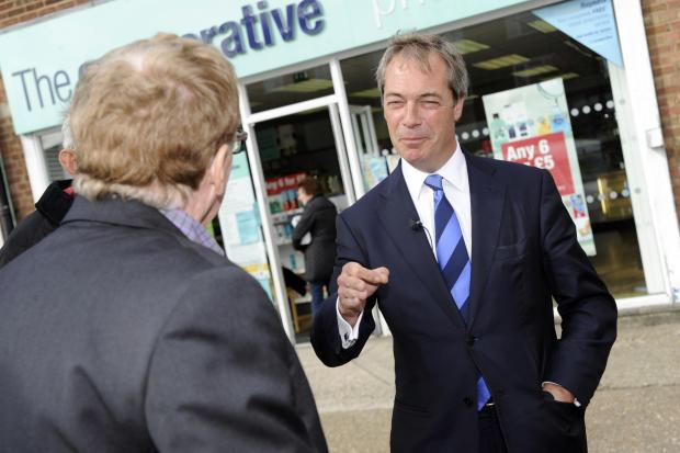 Nigel Farage in Grays last year