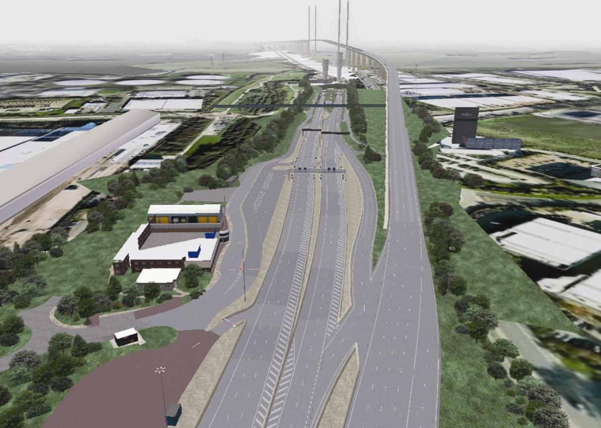 Is this how the free-flow toll system at the Dartford Crossing will look?