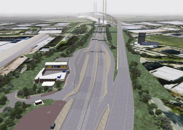 Thurrock Gazette: Is this how the free-flow toll system at the Dartford Crossing will look?
