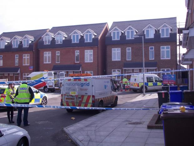 Police and National Grid have been at the scene on Martello Close, Grays, today