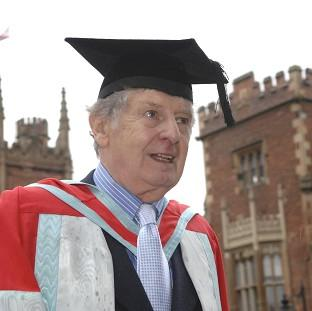 "Thurrock Gazette: Actor James ""Jimmy"" Ellis, who has died aged 82,  received an honorary degree from Queen's University in Belfast"