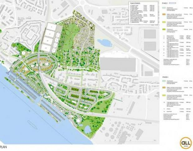 The plans - ambitious proposals for the regeneration of Purfleet given council's backing