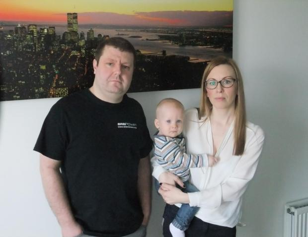 Thurrock Gazette: Daniel Patch and Niamh Wakeling with her son Finn