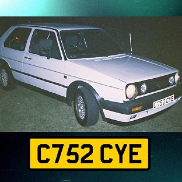 Thurrock Gazette: Undated handout photo issued by Avon and Somerset Police of a white VW Golf GTi hardtop, registration C752 CYE, police investigating the murder of university graduate Melanie Hall nearly 20 years ago are to make a new appeal for information on the BBC Cri