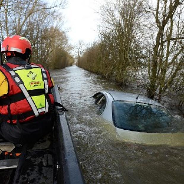 Thurrock Gazette: The Somerset Levels were hit by devastating floods.