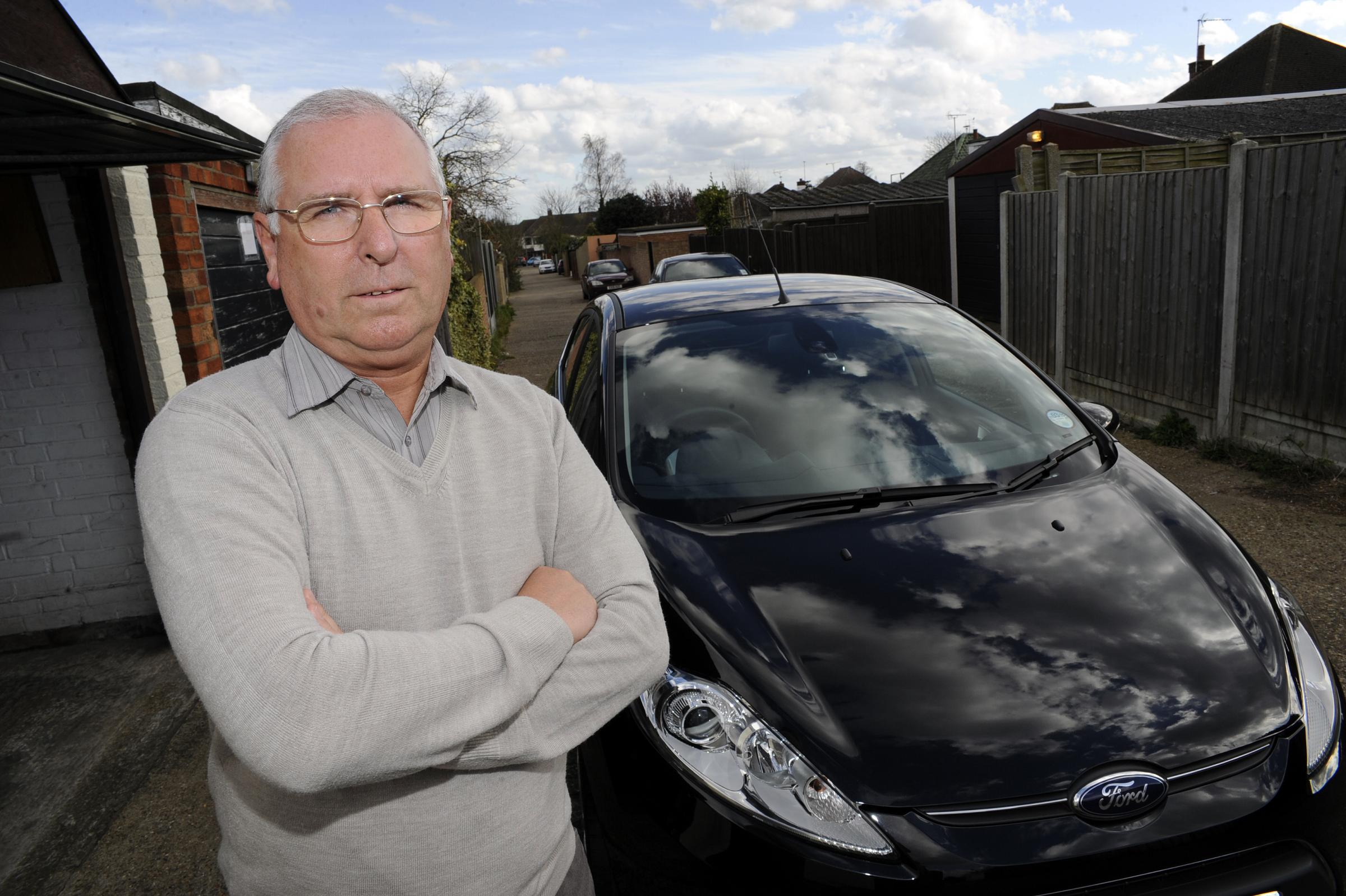 Terrified – Barry with repaired car