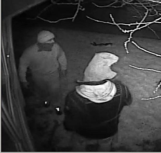 Police have released CCTV of two men with covered faces entering into Bonnygate School in Arisdale Avenue overnight on Wednesday, March 5.