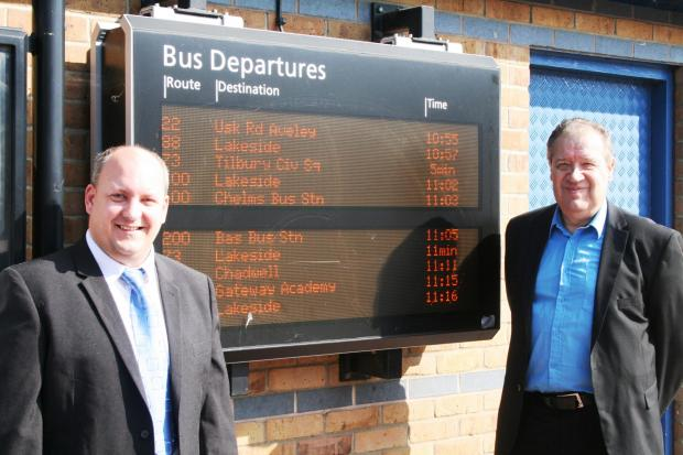 Thurrock Gazette: From left: Paul Dickson, customer services manager at Ensign, and Councillor Andy Smith