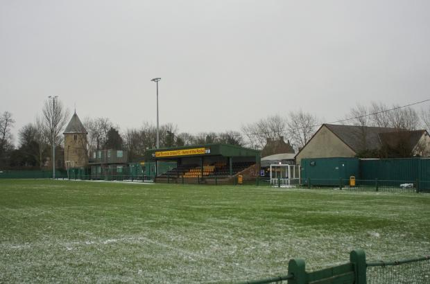 Thurrock Gazette: East Thurrock United's current ground, Rookery Hill. The club are looking to sell this land for housing and move elsewhere. [Pic - Mikey Cartwright/Ponderosa Pix]