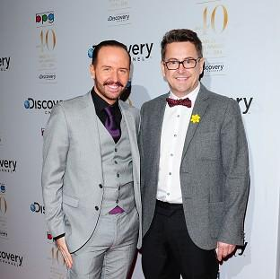 Thurrock Gazette: Chris Steed and Stephen Webb of Gogglebox, which has been nominated for two Baftas