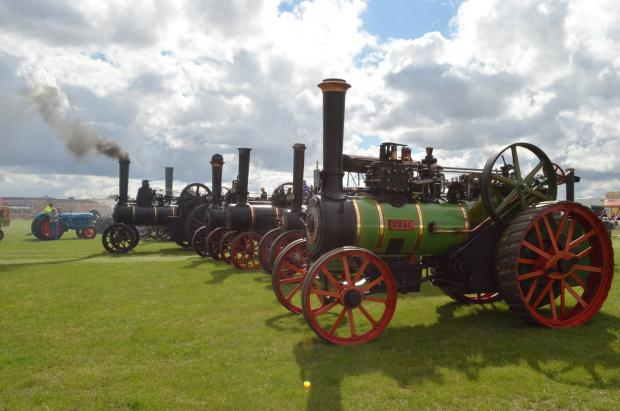 Steam engines will be one of the features of the day