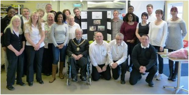 Cafe society – Lightship volunteers with mayor Tony Fish