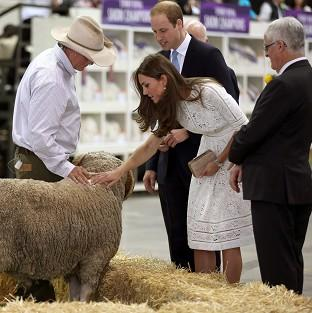 Thurrock Gazette: The Duke and Duchess of Cambridge at the Royal Easter Show at Sydney Olympic Park