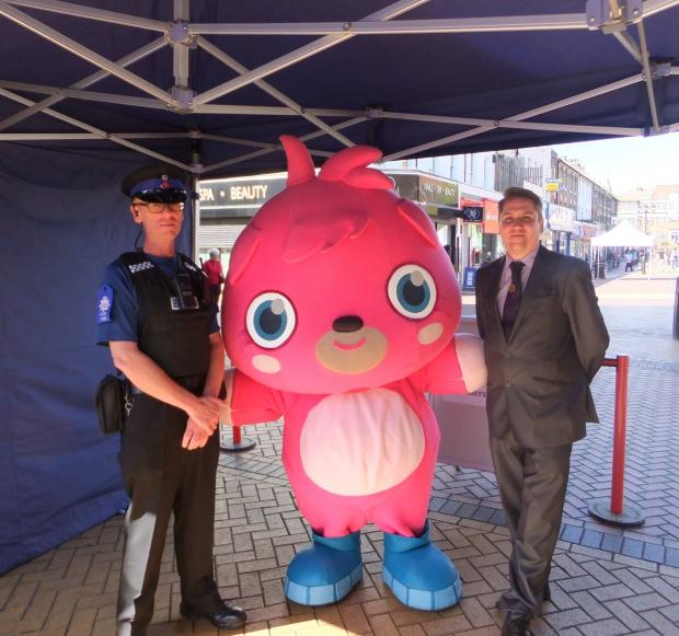 PCSO Bill Sparks, left, with Poppet and Mark Blanks