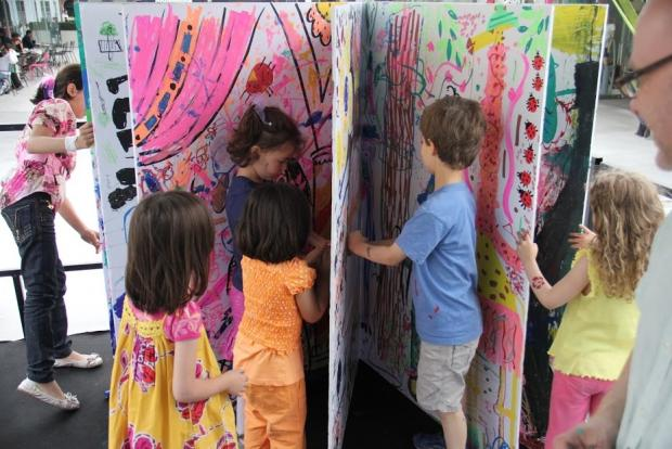 A giant Pop Up book at a similar festival held in Shropshire last weekend
