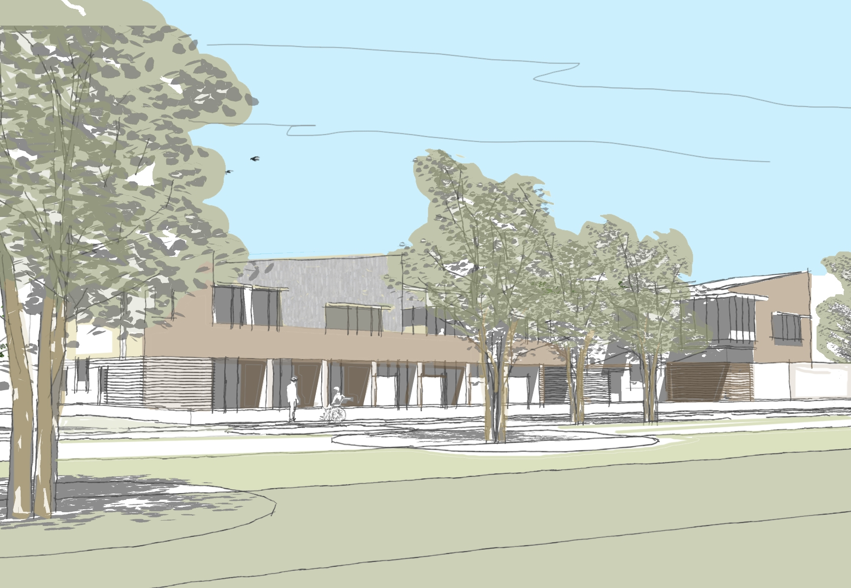 An artist's impression of the proposed new hospice in Horndon