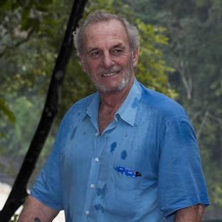Mark Shand during a visit to the Vazhachal Forest Range, India