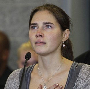 Amanda Knox insisted she is innocent of the murder of British student Meredith Kercher and will appeal against an Italian court decision (AP)