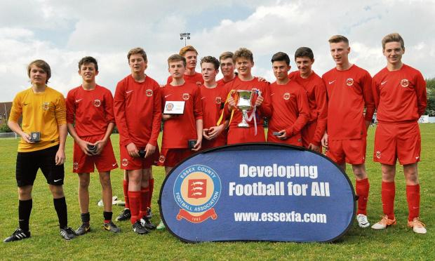 Grays Athletic Under 15s who won the Rosser Cup