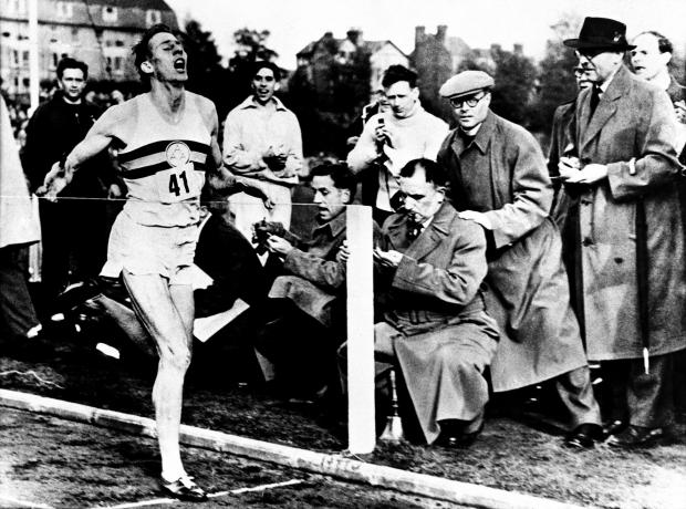 Roger Bannister - the first man to break the four minute mile