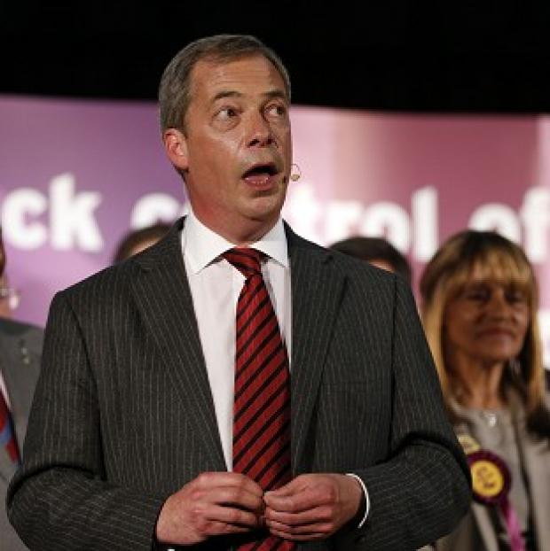 Thurrock Gazette: Nigel Farage has condemned the often violent nature of protests against him