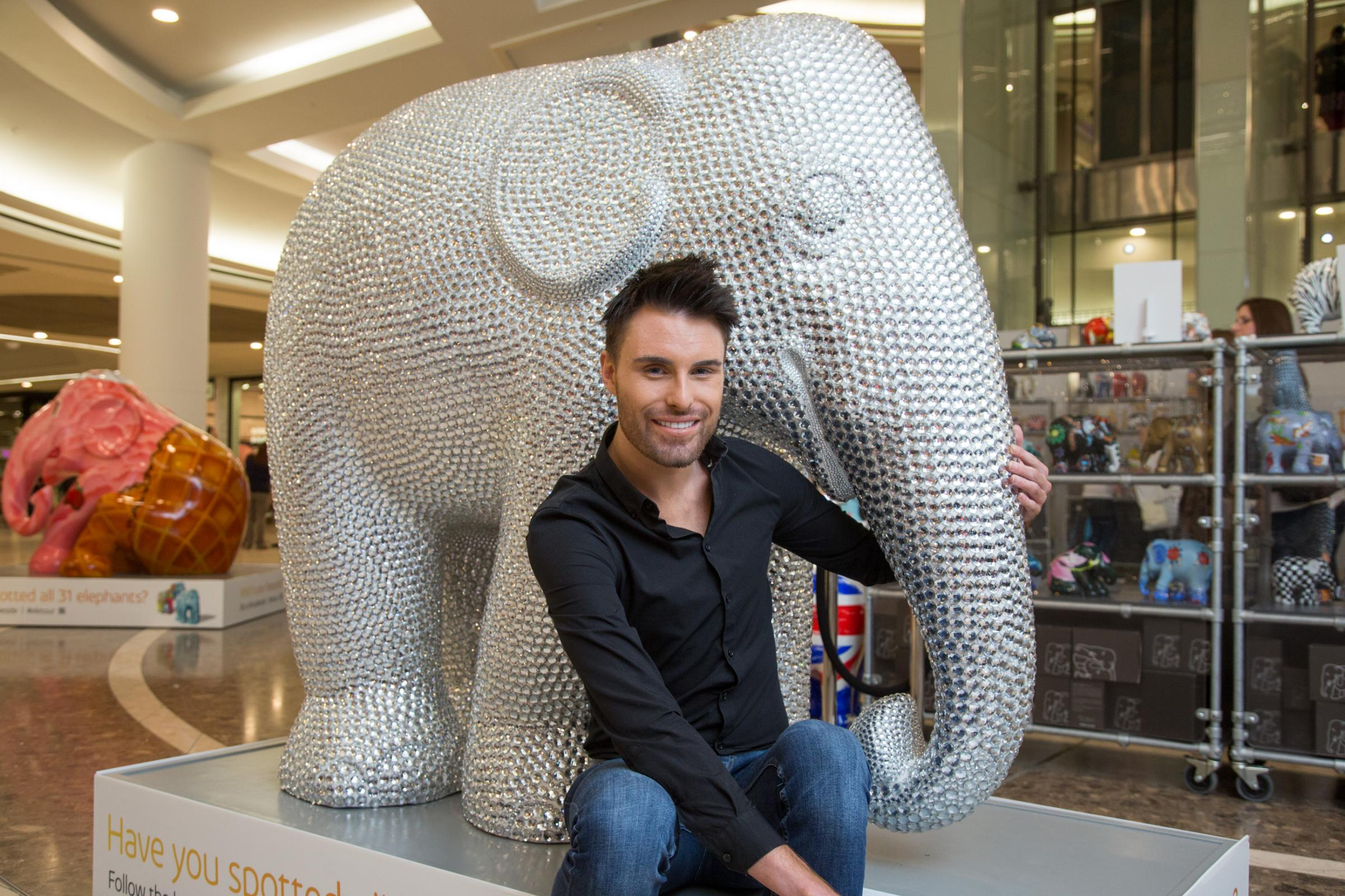 Rylan with his 'Essex elephant' Sparky