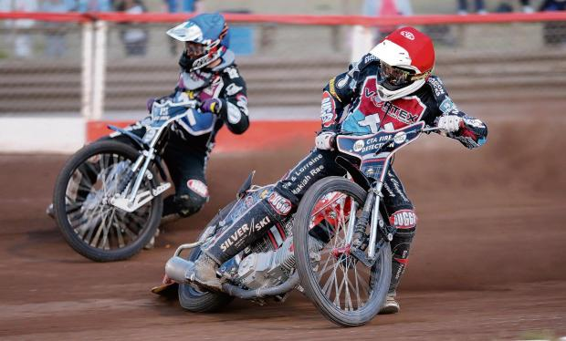 Speedway action from Monday night. Photo by TGS