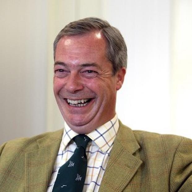 Thurrock Gazette: UKIP leader Nigel Farage denied being too frightened to attend a party rally