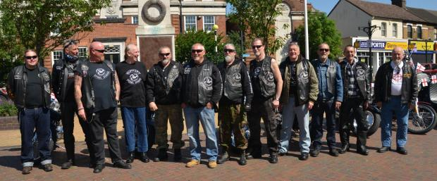Thurrock Gazette: The Steel Horse Riders at Grays war memorial