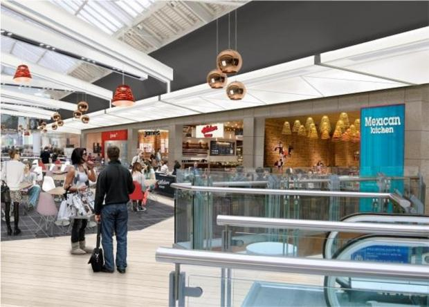 An artist's impression of the expanded food court