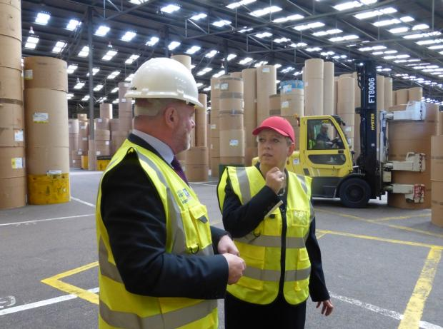 Jackie on a recent visit to the London Paper Terminal at the Port of Tilbury