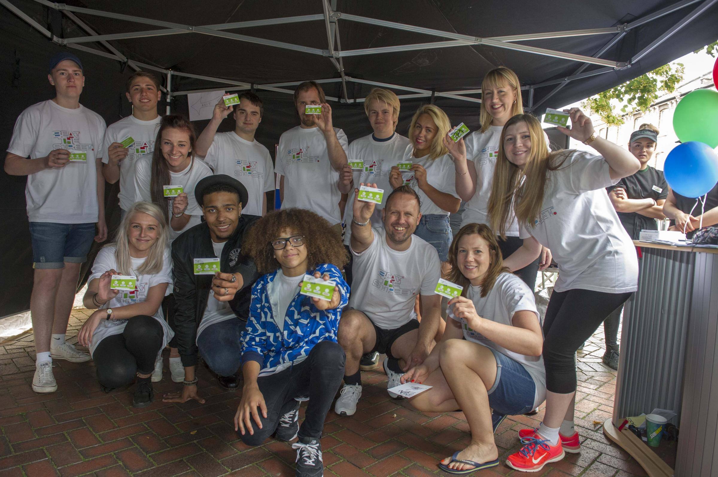Perri Kiely and Jordan Banjo show their support for Beat the Street