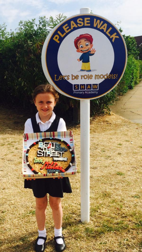 Ava, six, beats the rest to earn big cookie prize