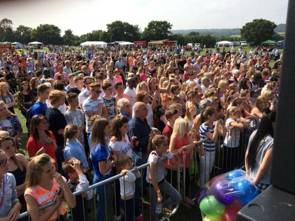 The event took place in the grounds of Gable Hall School