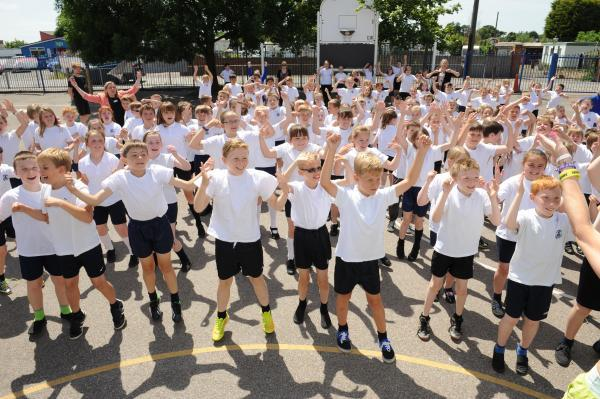 Pupils at Corringham Primary have been celebrating their school's rapid improvement