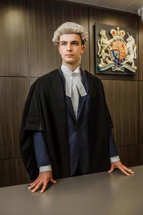 Franky Payne has become one of the youngest people to qualify as a barrister