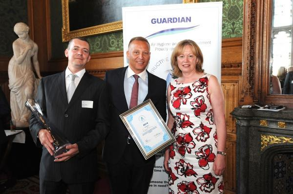 Ricky Ellis, Guardian CEO Mark Hobson and Baroness Smith