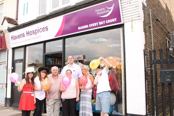 Staff outside the Little Havens shop