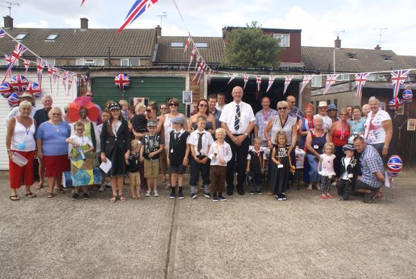 Street party in Corringham to commemorate the beginning of the First World War