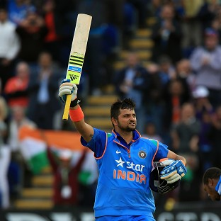 India's Suresh Raina reached his century
