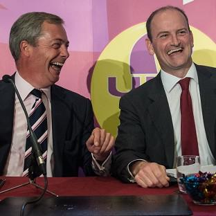 Thurrock Gazette: UKIP leader Nigel Farage (left) with Douglas Carswell who has defected from the Conservatives