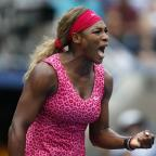 Thurrock Gazette: Serena Williams made it a hat-trick of victories against Americans, beating Varvara Lepchenko (AP)