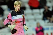 David Hughes - had a difficult afternoon in goal for Rocks