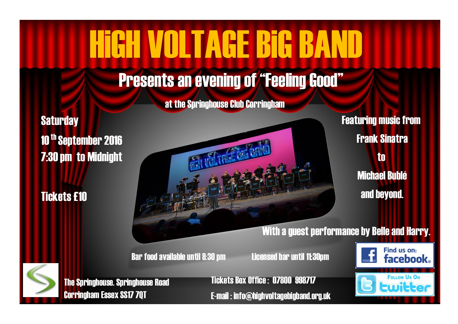 High Voltage Big Band Presents an evening of 'Feeling Good'