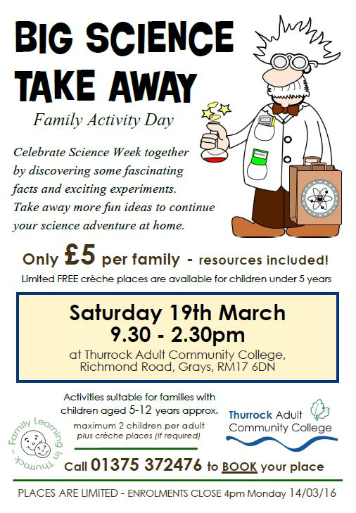 Big Science Take Away - Family Activity Day