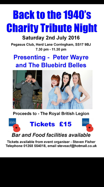 Back to the 1940's Charity Tribute Night